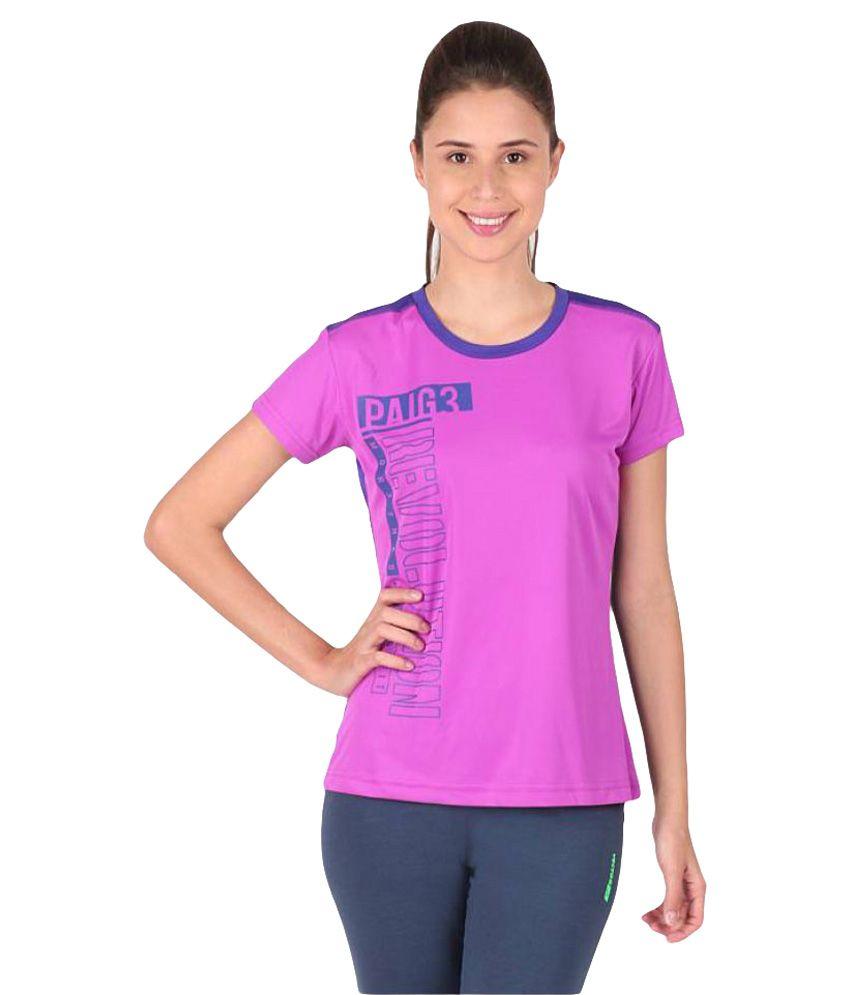 Vector X Purple-Blue Round Neck T-Shirt