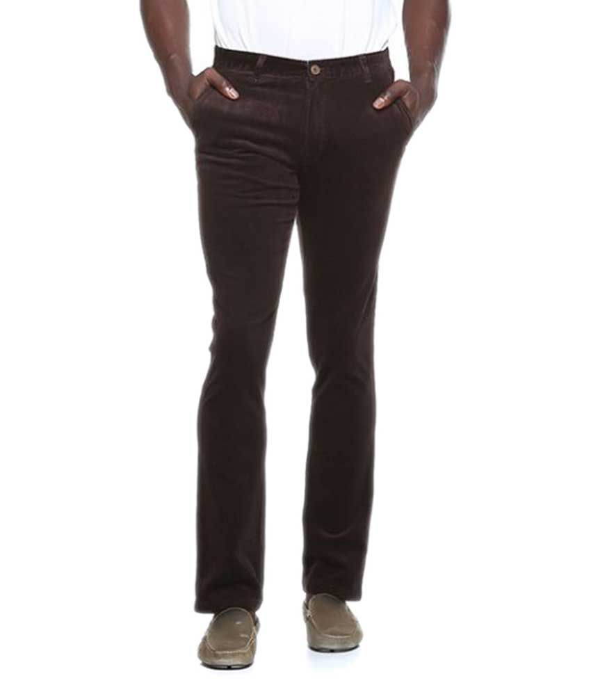 Octave Coffee Regular Flat Trousers