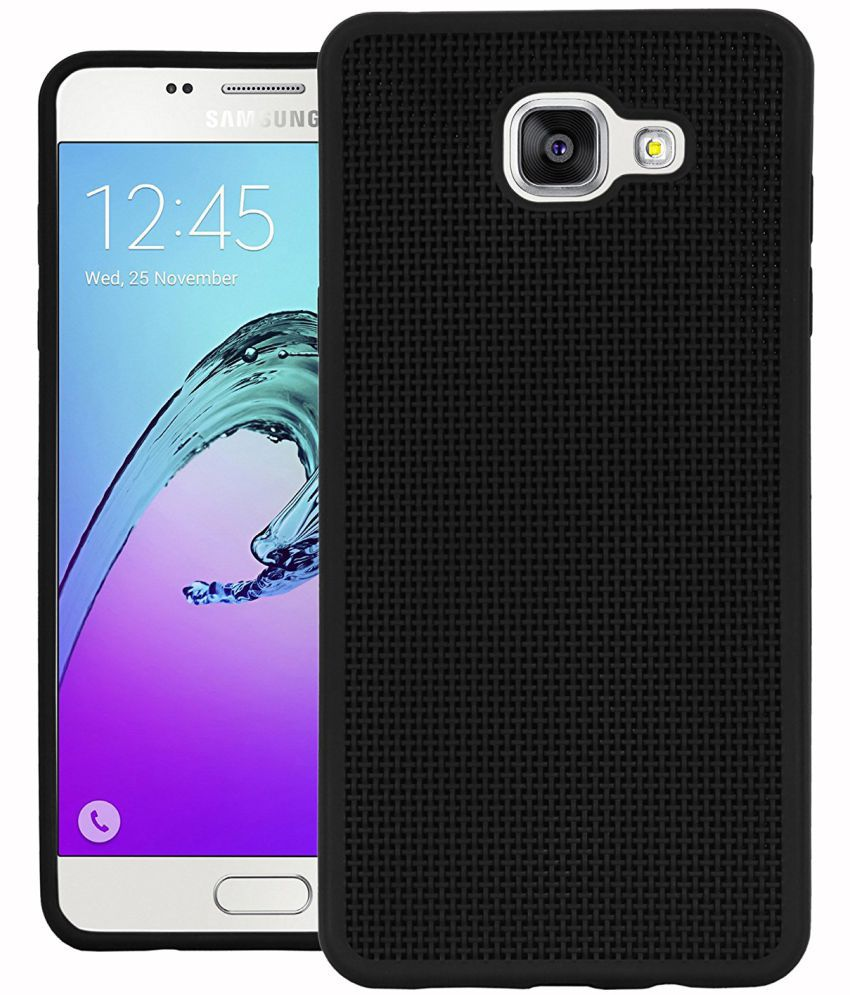 Samsung Galaxy A5 2016 Soft Silicon Cases Edge Mark - Black