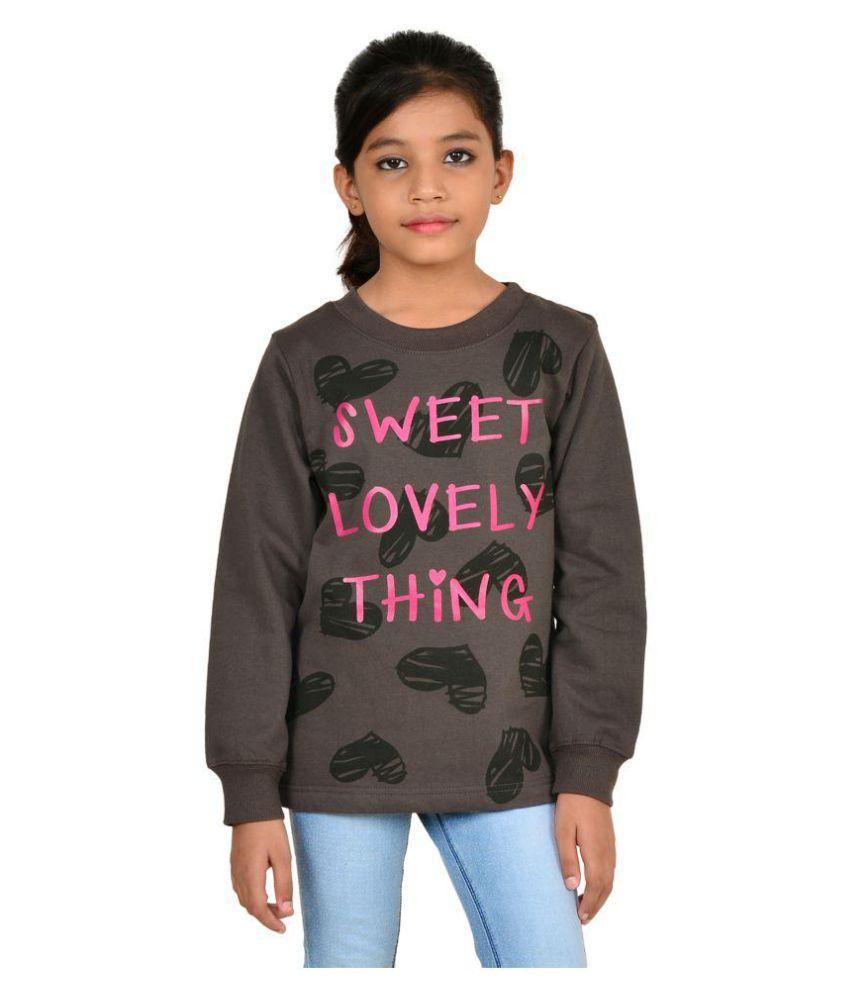 Wardtrobe Chocolate Brown Printed Long Sleeve Sweatshirts