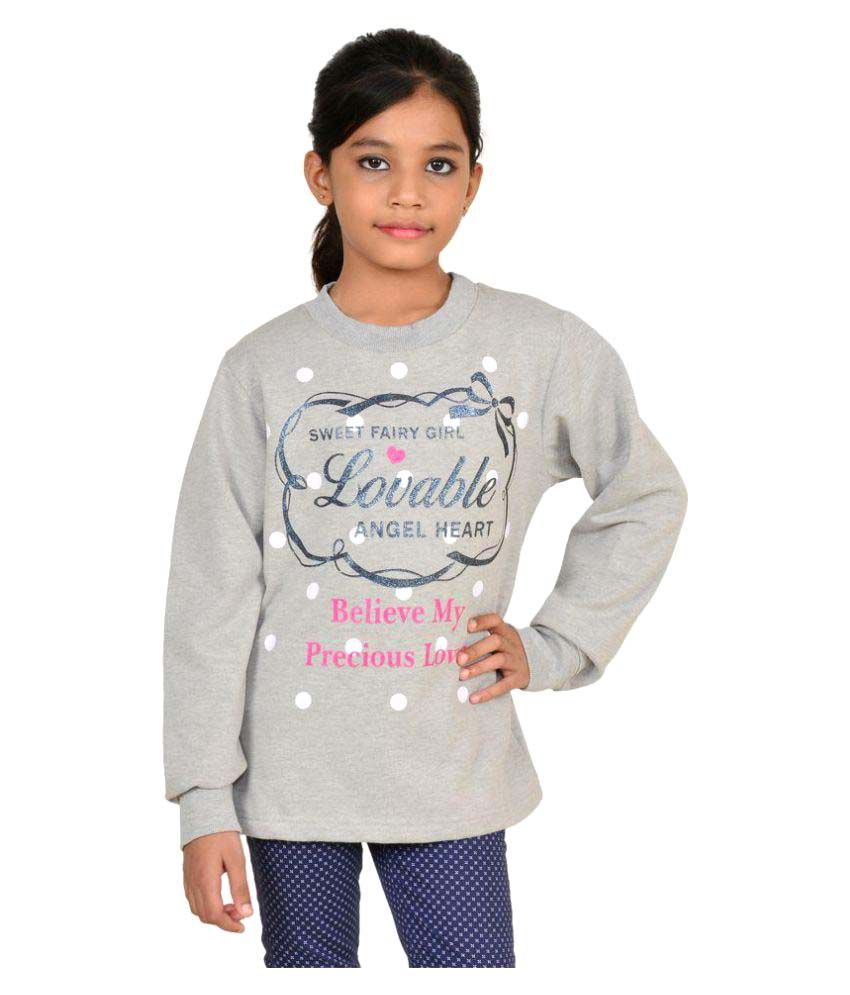 Wardtrobe Grey Color Printed Long Sleeve Sweatshirt