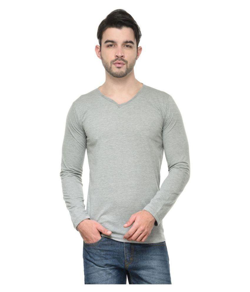 Jainish Grey V-Neck T-Shirt