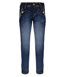 I Lead Garments Blue Cotton Blend Jeans