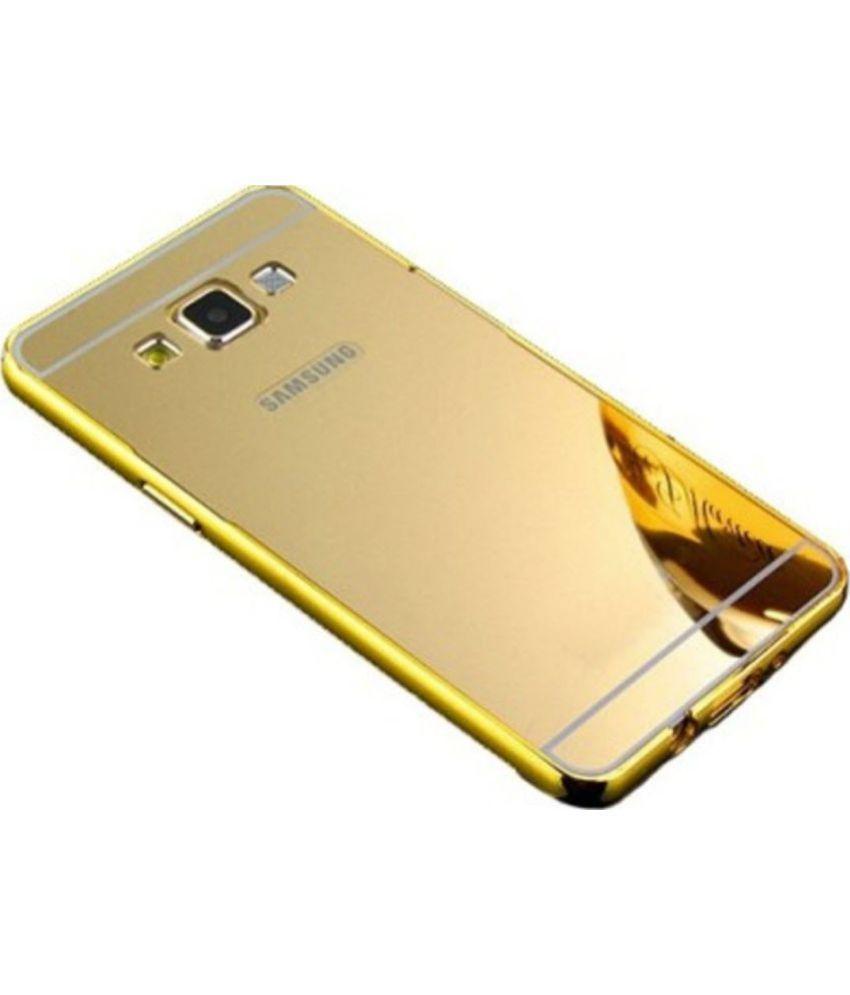 timeless design c0b00 1392b Samsung Galaxy On7 Pro Mirror Back Covers DEV - Golden