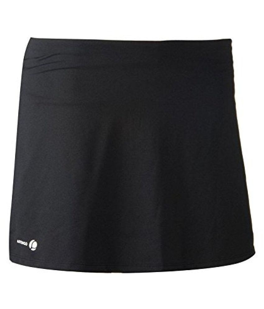 ARTENGO ESSENTIAL WOMEN'S TENNIS BADMINTON TABLE TENNIS PADEL SQUASH SKIRT - BLACK