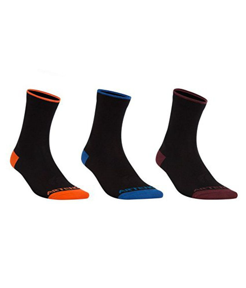 ARTENGO RS750 HIGH SOCKS 3-PACK - BLACK MIX