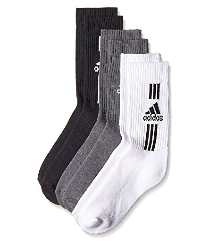 Adidas AD2483 Full Cushion Crew Socks, Mens Pack of 3 Size 39/42