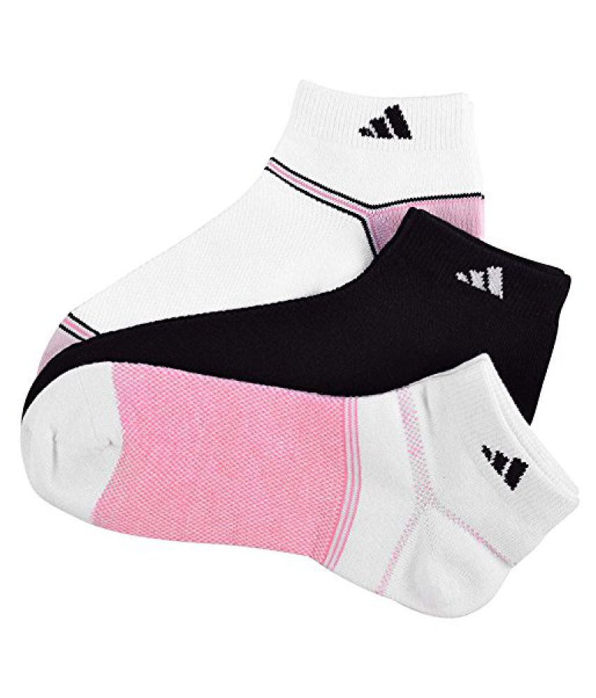 Adidas Women's Superlite Climacool Low Cut Socks -Black/White/Pink