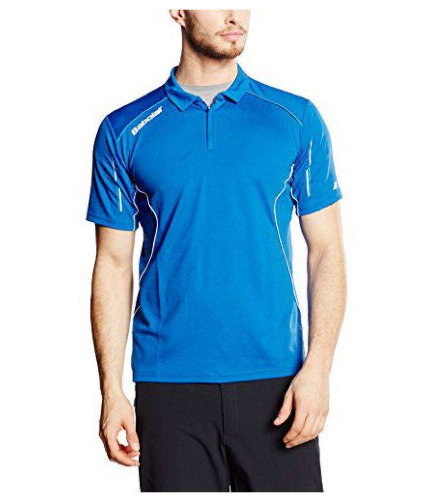 Babolat 40S1410-136 Match Core Polo, Men's (Blue)