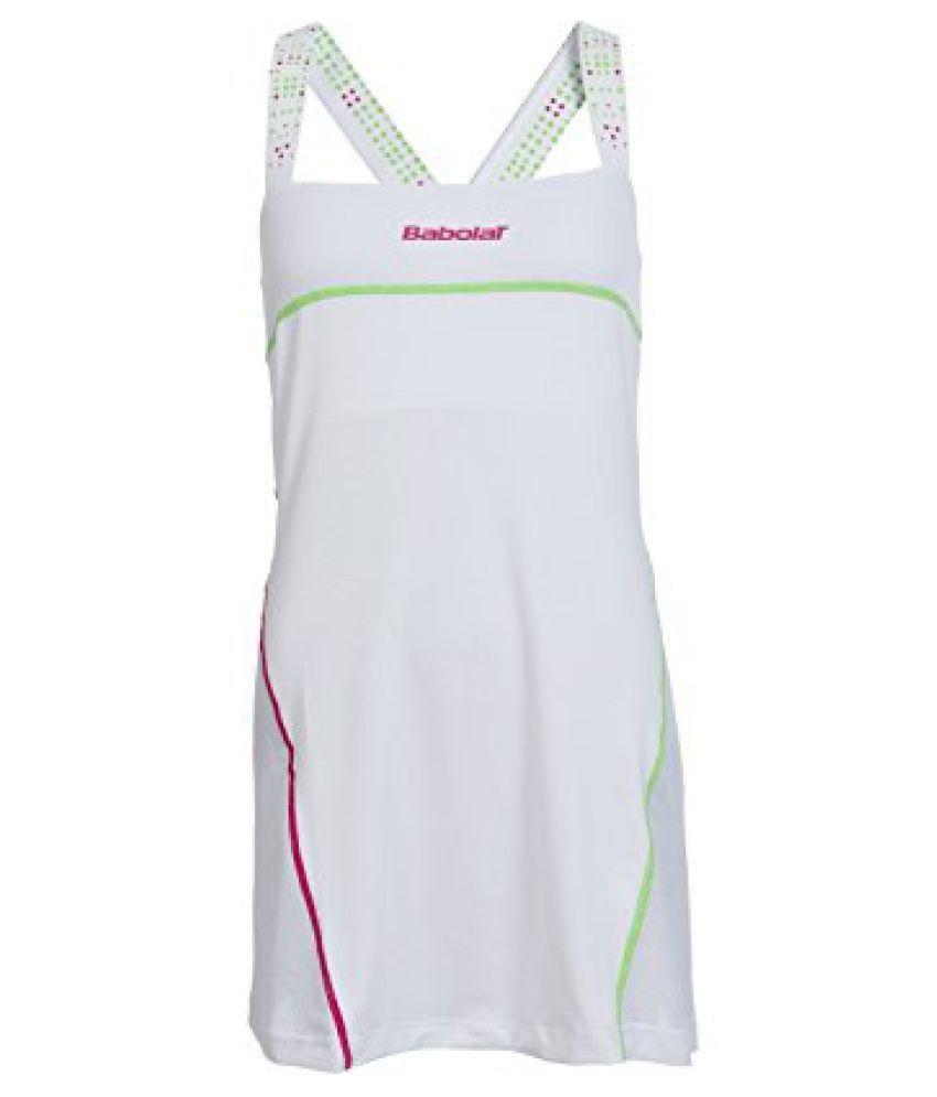Babolat 41S1519-101 Perf Match Tennis Dress, Women's Large (White)