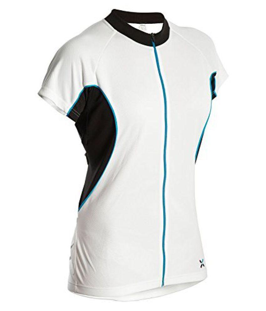 Btwin Jersey-700-Women White Blue - Size M