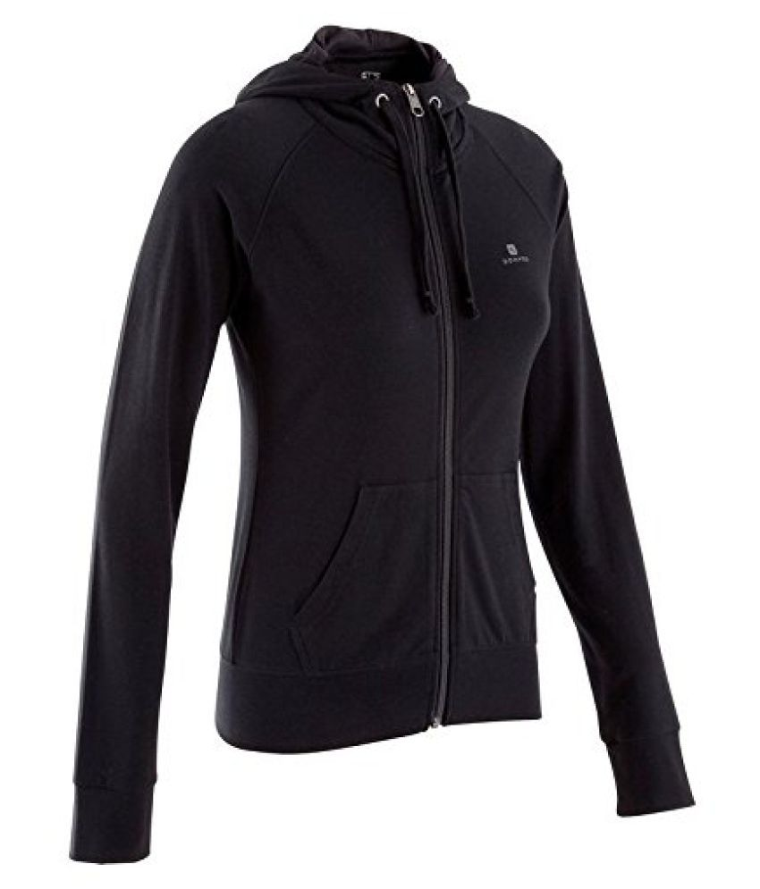 DOMYOS HOODED ZIP-UP FITNESS JACKET