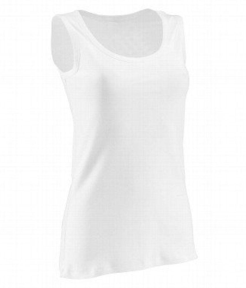 Domyos Basic Organic Cotton Tank Top White - Size XL