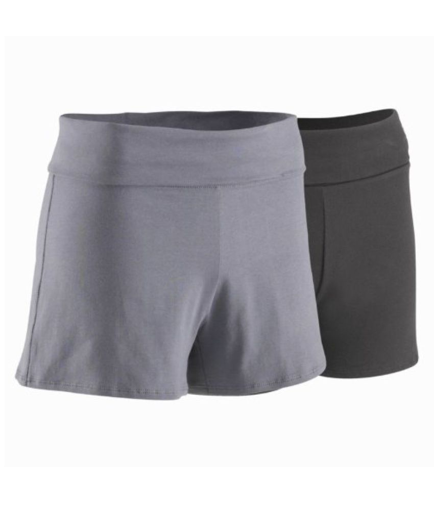 Domyos Organic Cotton Shorts Grey - Size XXL