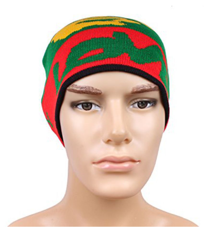 Green Red Stylish Unisex Wollen Cap