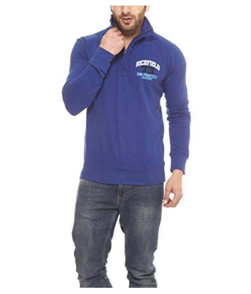 Gritstones Indigo Printed Sweatshirt-GSSSINGRICH