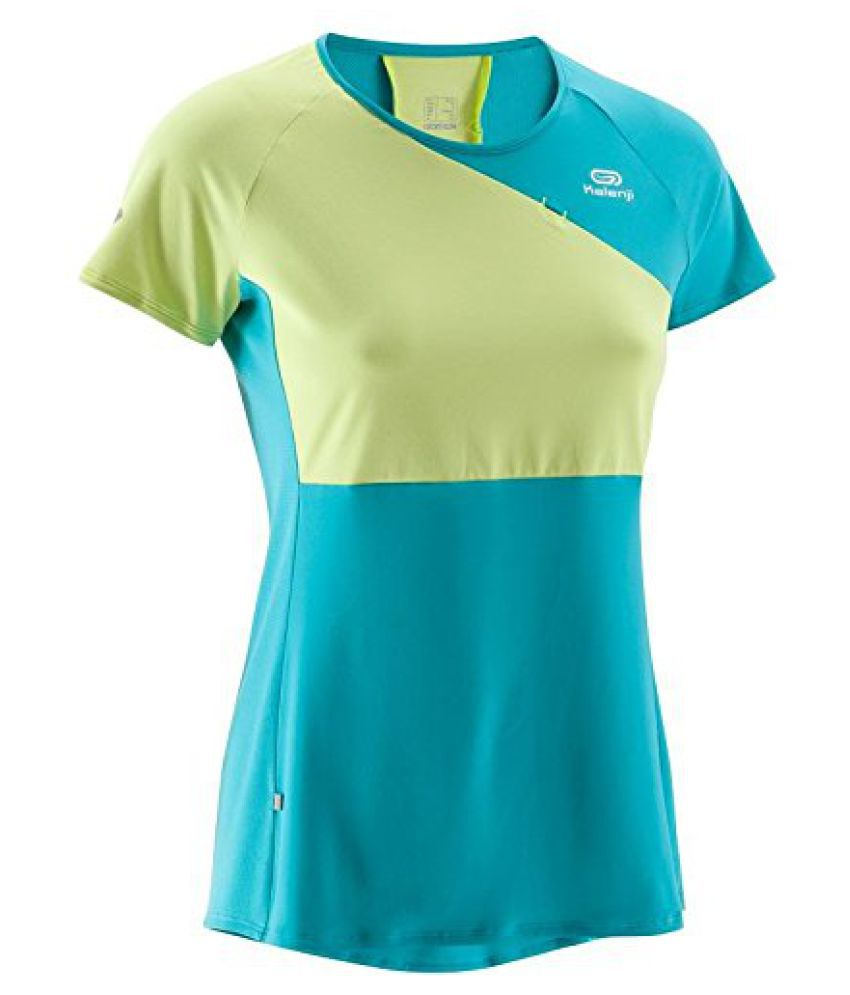 KALENJI ELIOFEEL WOMEN'S RUNNING T-SHIRT - YELLOW/GREEN