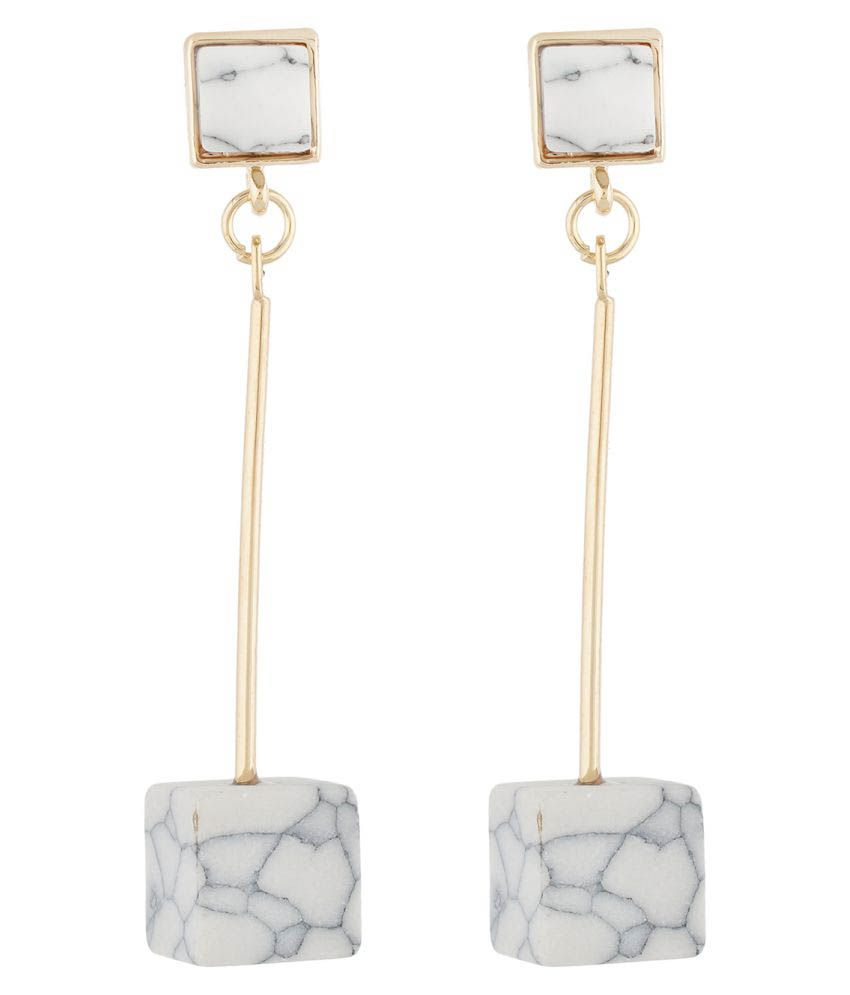 OSF Multicolour Cube Shape Hanging Earring for Girls and Womens