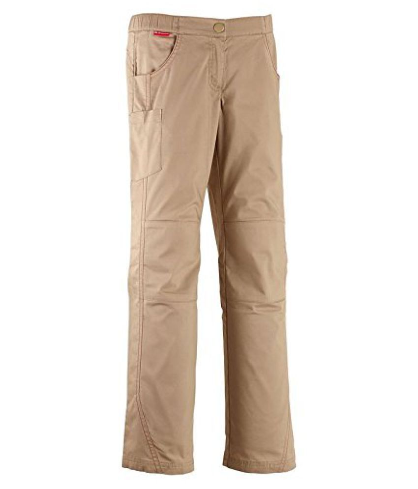 QUECHUA FORCLAZ 100 CHILDRENS WALKING TROUSERS - BEIGE