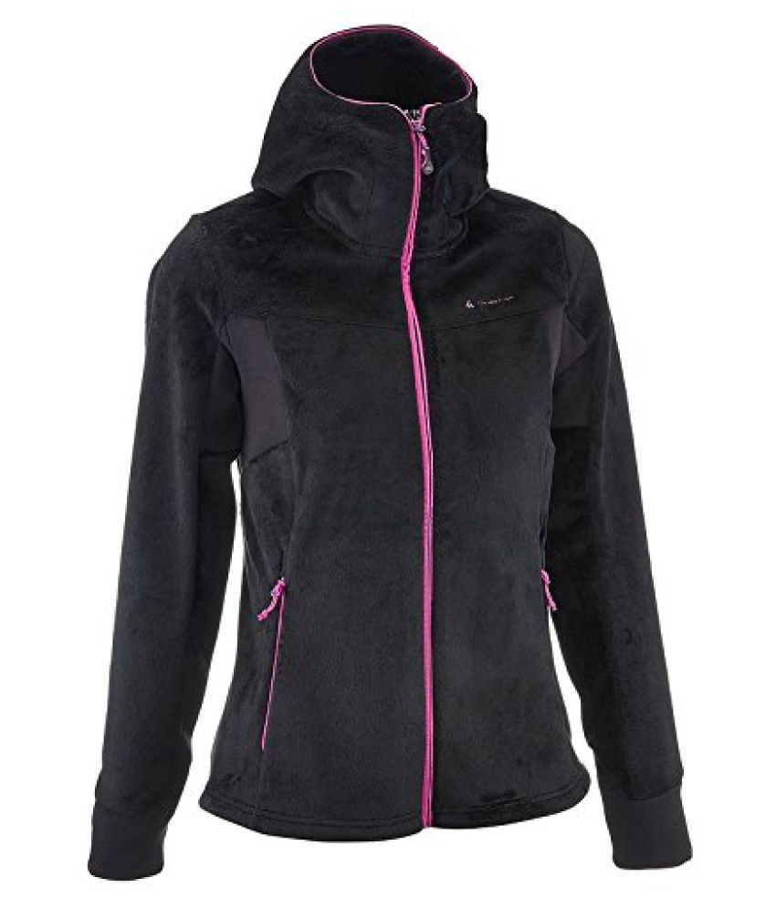 QUECHUA FORCLAZ 500 WOMEN'S FLEECE - BLACK