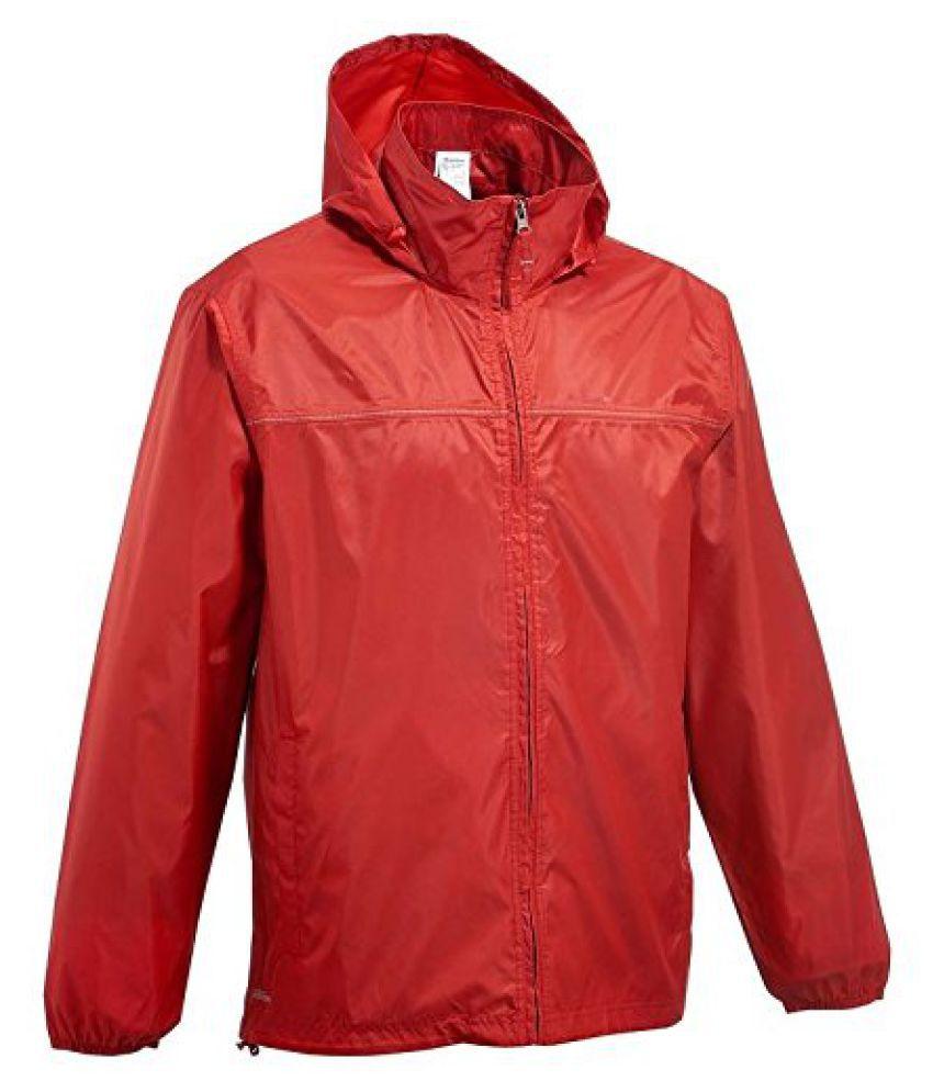 Quechua Men Raincut Zip Red - Size XXL