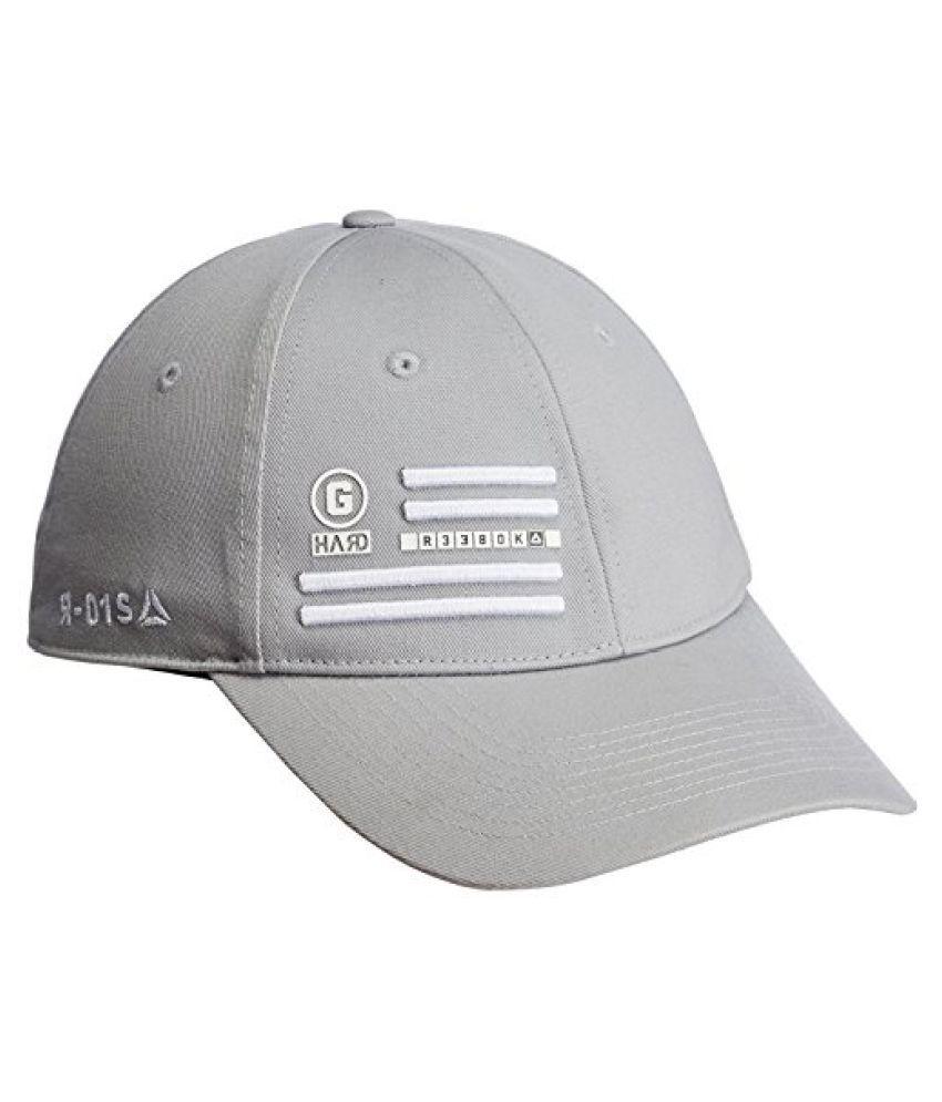 Reebok OS U Graph Cotton Cap, Men's Free Size (Medium Grey-R)