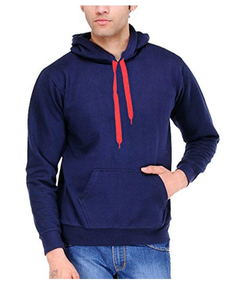Scott International Cotton Blend Mens Sweatshirt With Zip Hood Navy Blue