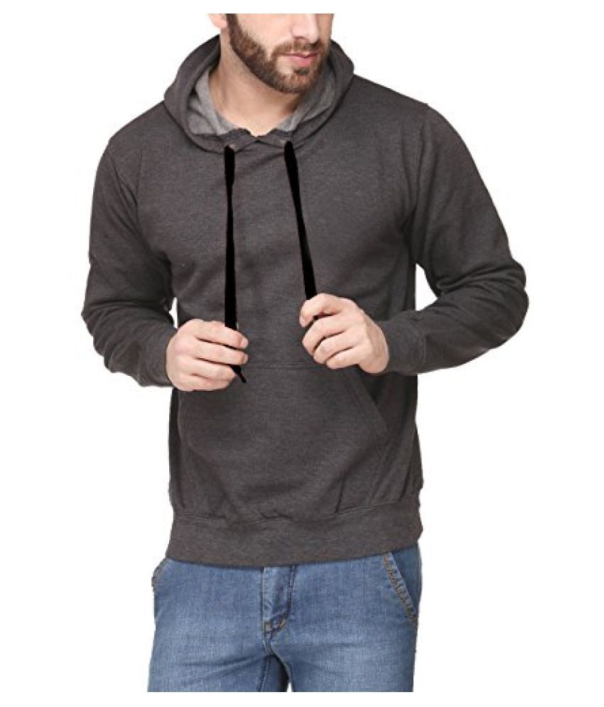 Scott International Full Sleeve Hooded Unisex Charcoal Grey Sweatshirt