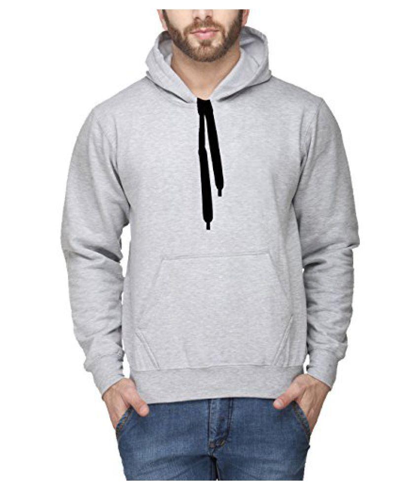 Scott International Full Sleeve Hooded Unisex Grey Milange Sweatshirt