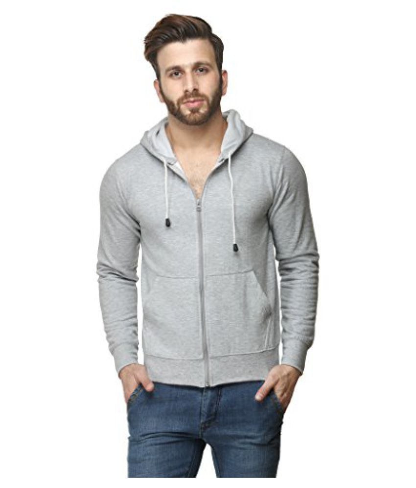 Scott Sweat Shirt with Zip & Hood FBAsslz3(Grey Milange)