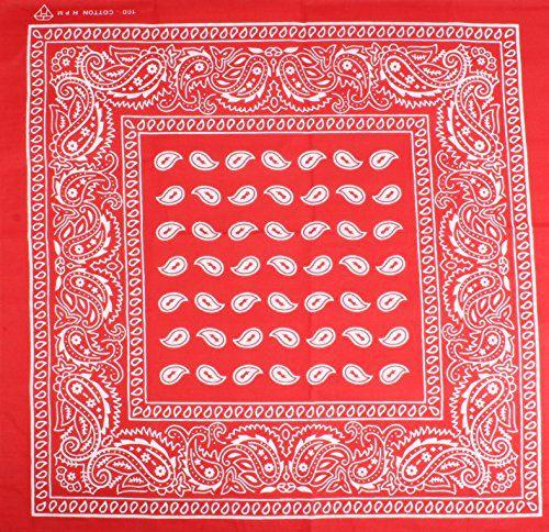 Sushito Designer Red Multi Use Headwrap