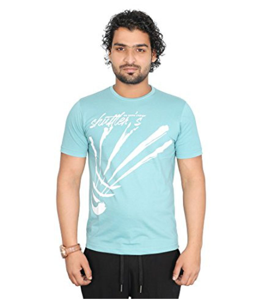 Vector X VTC-001-K Half Sleeves Cotton round neck T shirt (Marine Blue)