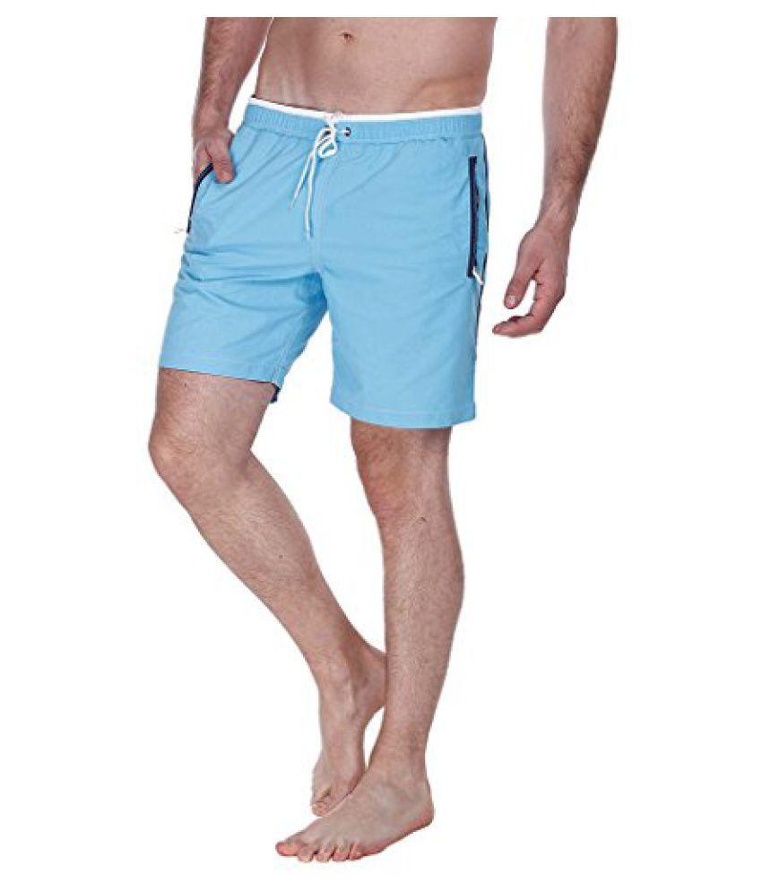 Zobello Men's Nylon Quick Dry Swim Shorts with Zipper Pockets/ Swimming Costume