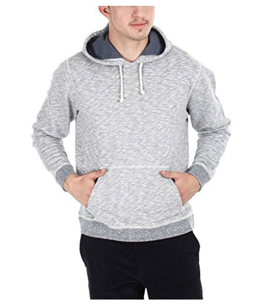 Zobello Men's Space Dyed Slub Heather Fleece Hoodie