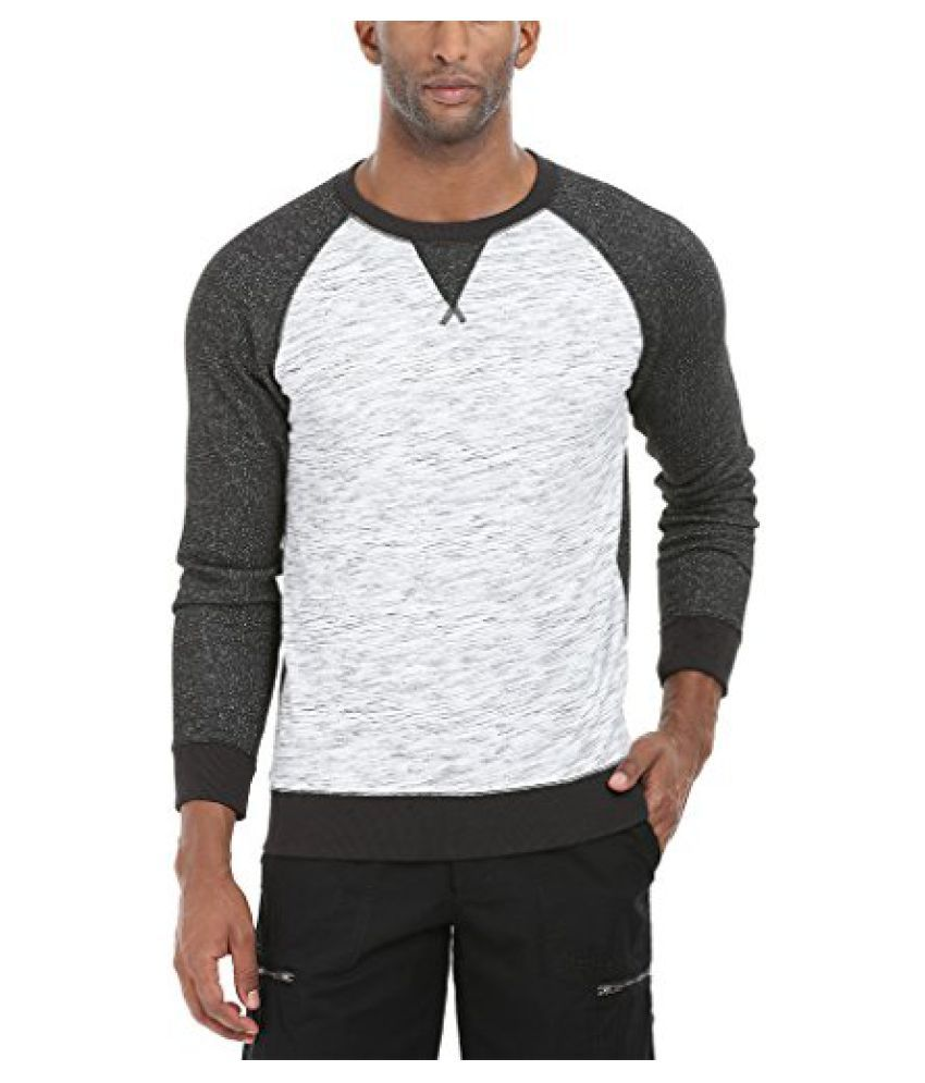 Zobello Mens Raglan Slub Look Sweatshirt