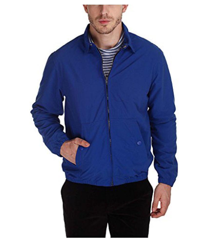 Zobello Mens Solid Teflon Coated Soft Nylon Jacket
