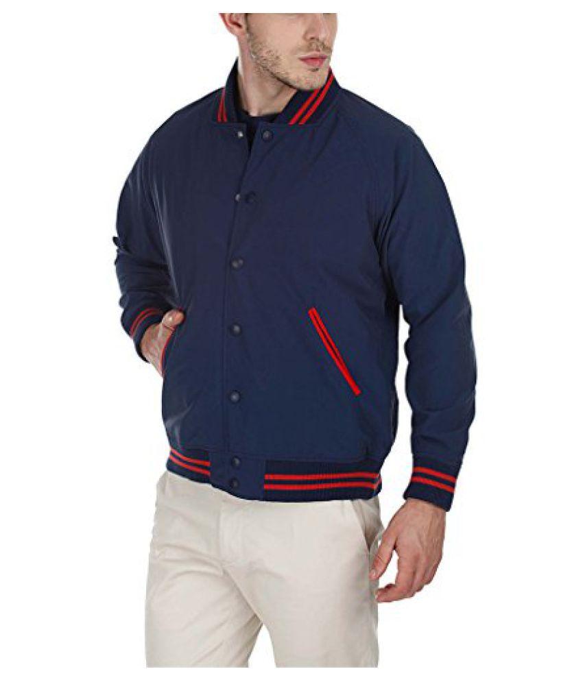 Zobello Mens Varsity Teflon Coated Nylon Jacket
