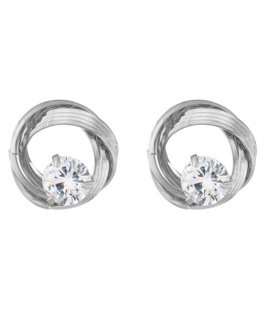 OSF Silver Colour Round Shape Stud Earring for Womens