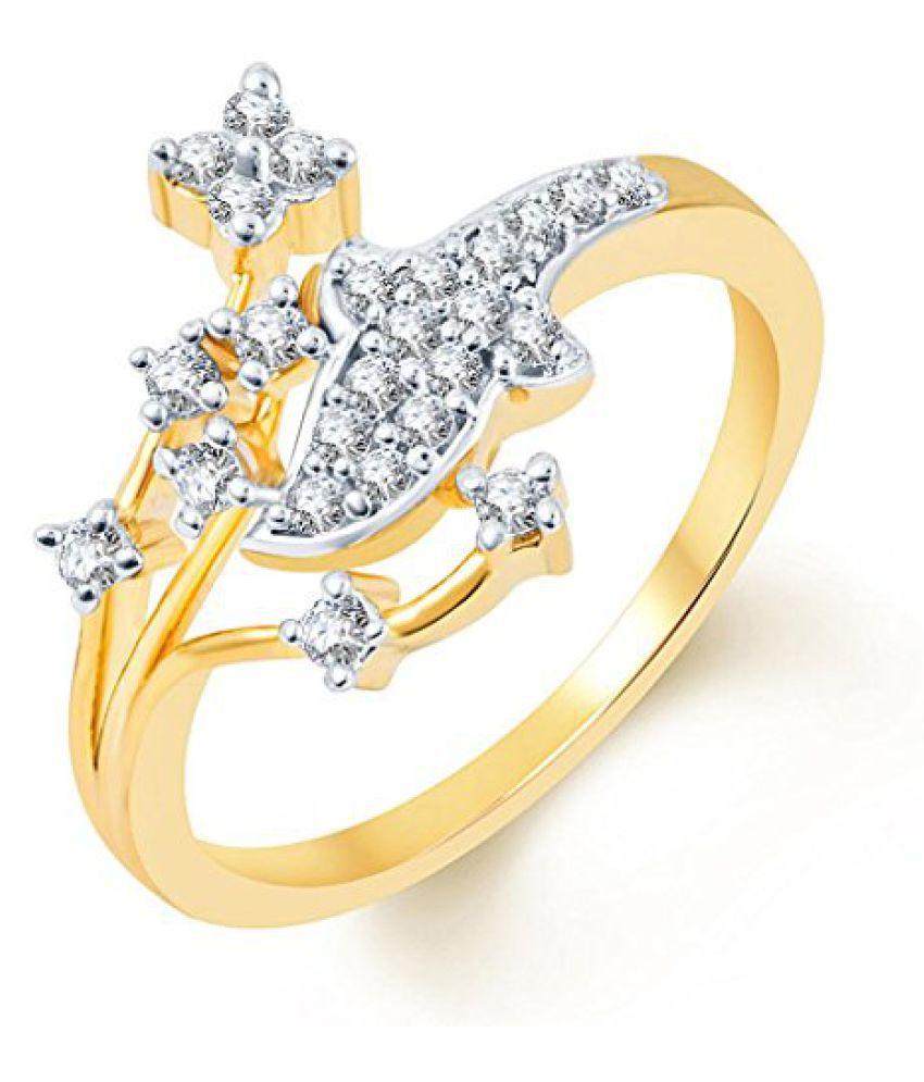 Sukkhi Classy Two Tone CZ Ring for Women