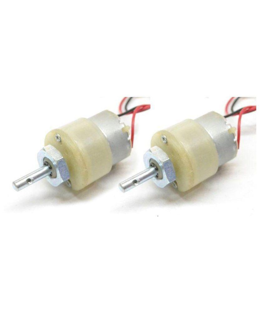 Nasa Tech 300 RPM, 12V DC Geared Motors (2pcs) 12v DC Gear Motor for  Projects
