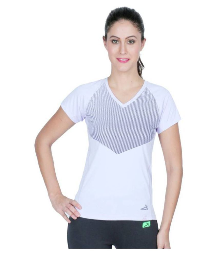 Vector V-neck White T-Shirt