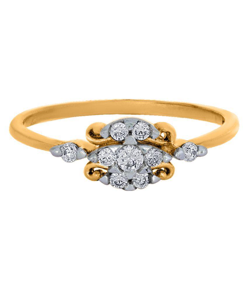 Asmi 18k Gold Diamond Ring