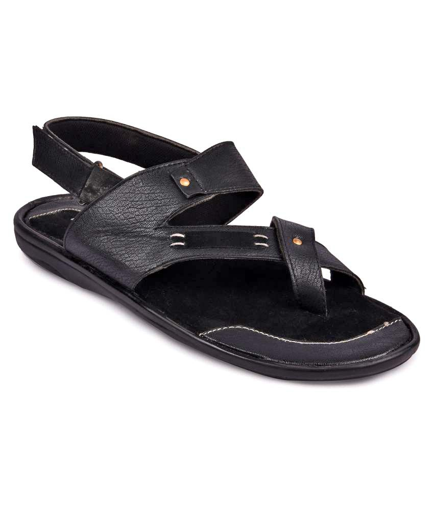 b80cc024cbec2b Andrew Scott Men s Black Sandals Price in India- Buy Andrew Scott Men s  Black Sandals Online at Snapdeal