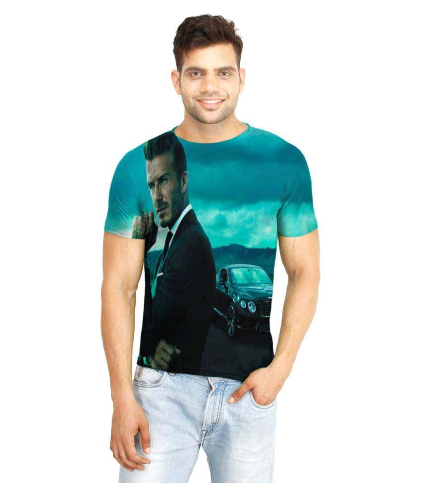 Flingr Multi Polyester T-Shirt