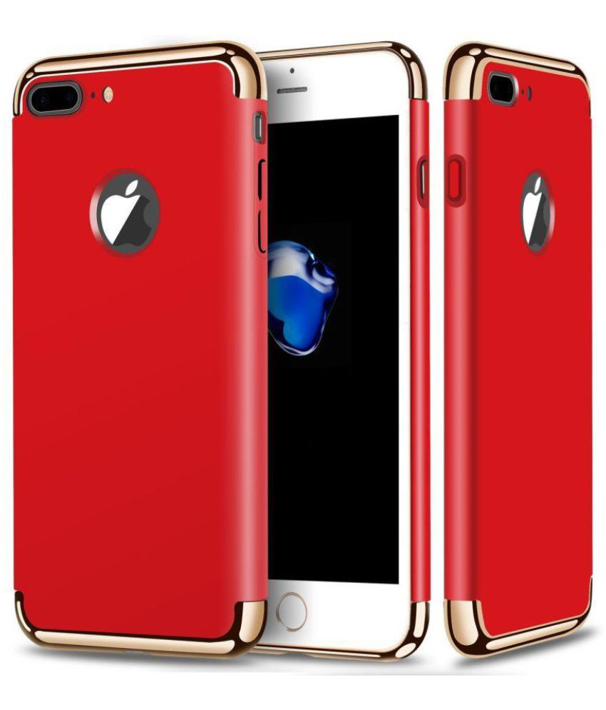 Apple Iphone 7 Plus Plain Cases Shinestar Red Plain Back Covers