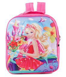 Uxpress Barbie Girl School Bag With Water Bottle And Tiffin Box
