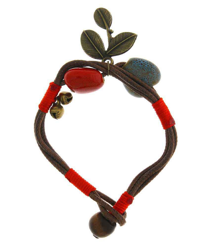 Anuradha Art Red Finish Designer Classy Bracelet