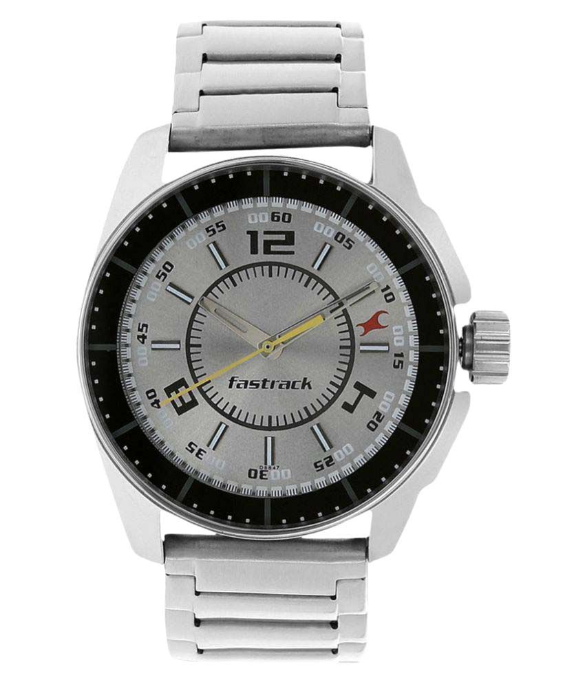 Image of Fastrack Silver Stainless Steel Analog Watch