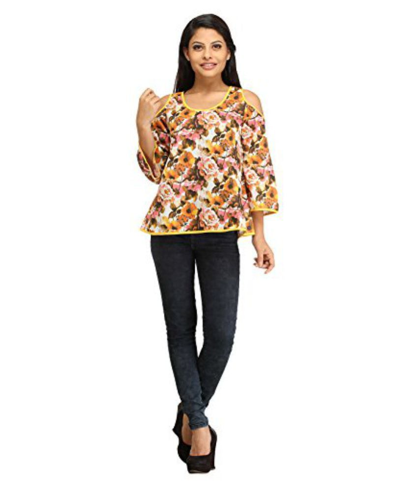 fee246d4893ac 100% Cotton Cut-Out Cold Shoulder Attractive Tops for Women   Girl s -  Fancy   Stylish ...