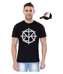 WWE Black Round T-Shirt With Cap - 682861626422